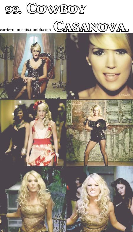 Carrie Underwood - Cowboy Casanova Music Video.. LOVE her hair in this video.