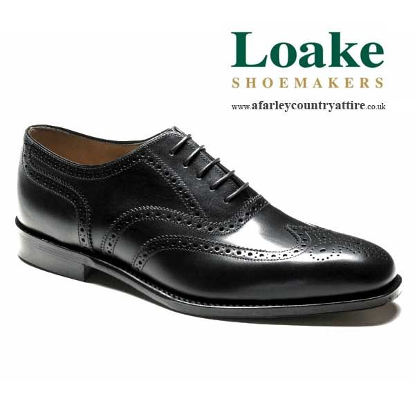 MENS LOAKES SHOES BOGART BLACK 8269