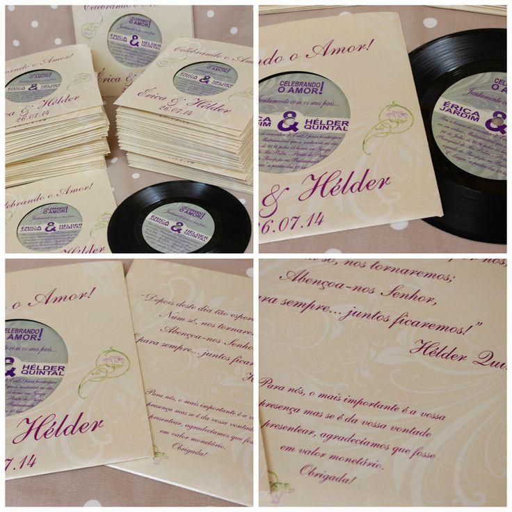 bespoke design wedding invitations on original 7quot vinyl With 7 vinyl wedding invitations
