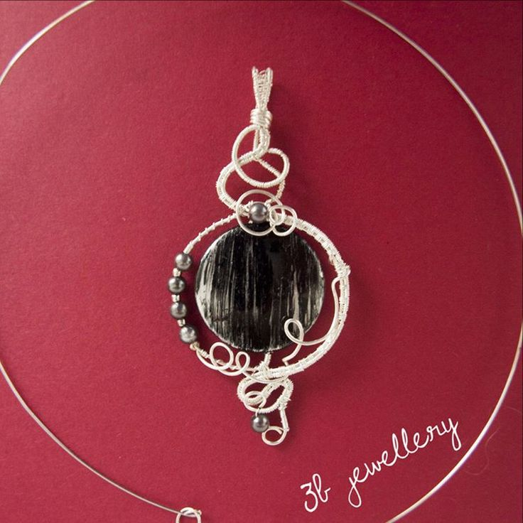 #black #luxury #pendant for special occasions such as #prom #3bjewellery #wirewrapping #beginner