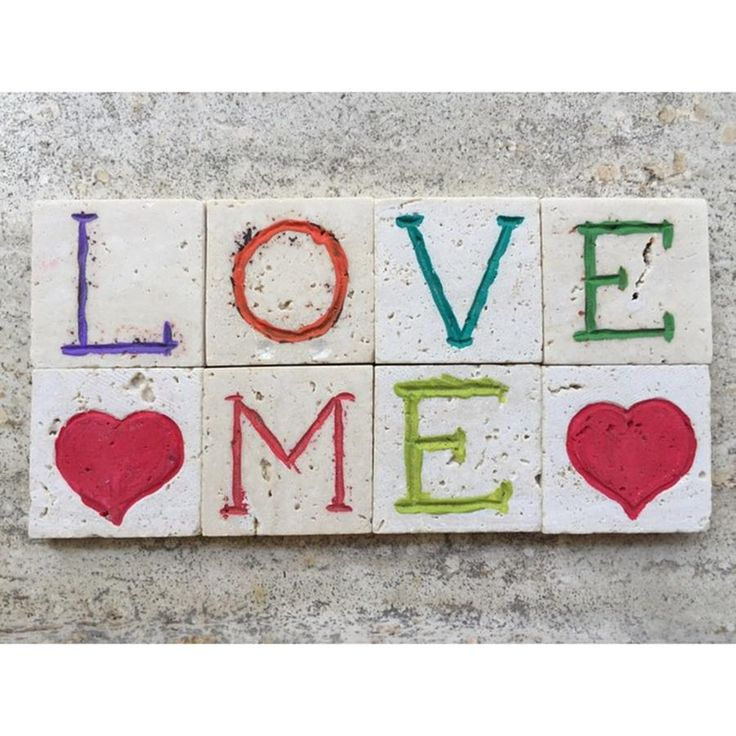 Love Me, Message On Carved Travertine Photograph