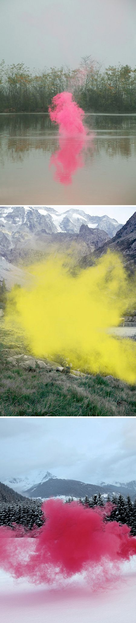 """Filippo Minelli puts a novel twist on the concept of """"landscape painting."""""""
