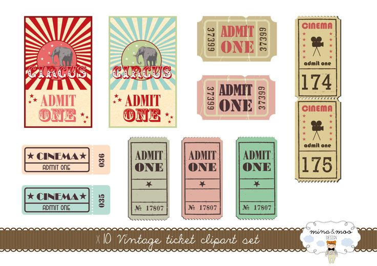 Vintage Tickets Clipart - Circus tickets - vintage circus - Vintage clipart - Vintage ticket - Circus clipart - Digital - admit one tickets by MinaandMooDesign on Etsy https://www.etsy.com/listing/227555820/vintage-tickets-clipart-circus-tickets