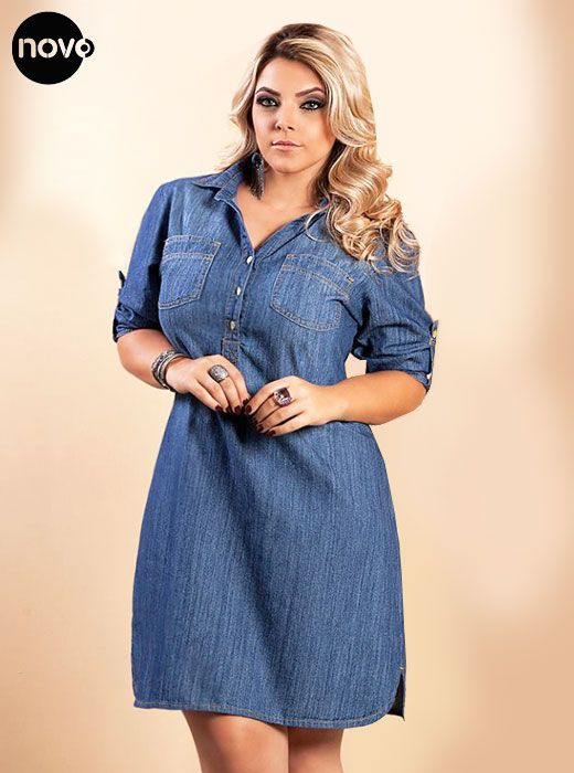 Vestido Jeans #PlusSize