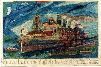 Painting from Prinzhorn's collection of artworks made by patients of psychiatric hospital,all killed by nazists