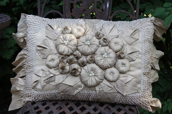 Decorative Pillow by LaVantteHome on Etsy, $145.00: Dream, Colors Memememememe, Decorative Pillows, Flower Pillow, Pretty Pillows, Crafts