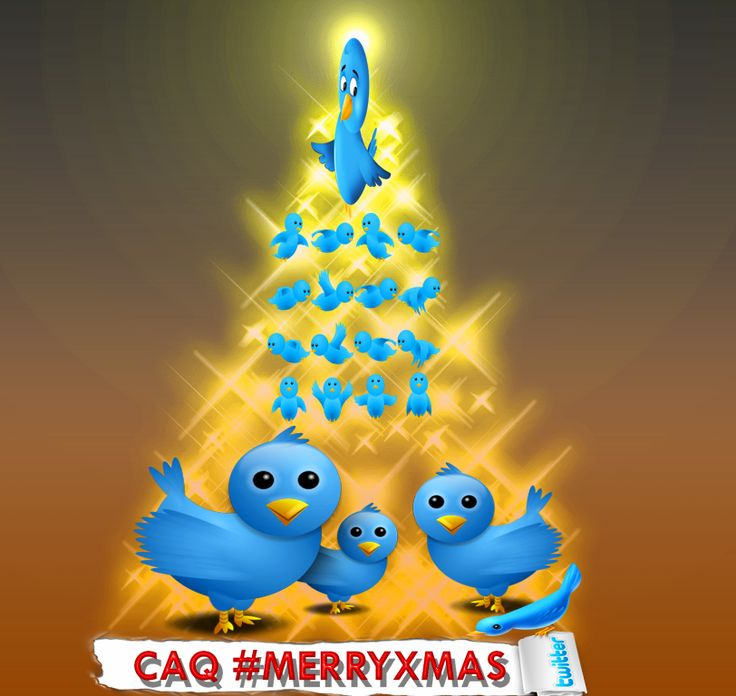 #MERRYXMAS #FelizNavidad Christmas Tree Bird #Twitter  Síguenos en twiiter. Somos +158.000 Seguidores. https://twitter.com/CAGUTQUIROS  Follow us on Twitter. We´re +158.000 Followers. https://twitter.com/CAGUTQUIROS