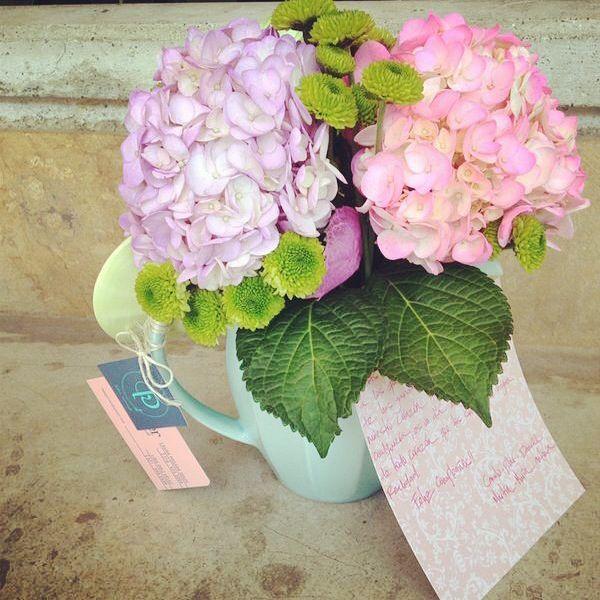 Teteras + flores