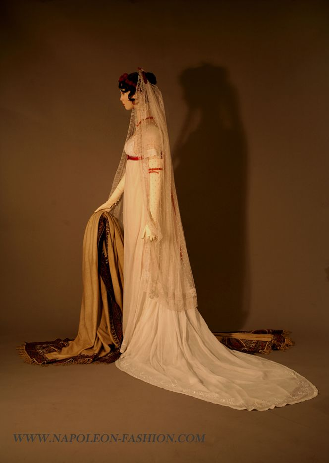 Fripperies and Fobs-Dress ca. 1802-03 and shawl ca. 1803  From Napoleon & the Empire of Fashion