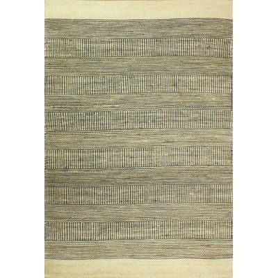 "Laurel Foundry Modern Farmhouse Riendeau Hand-Knotted Cream/Slate Area Rug Rug Size: 7'6"" x 9'6"""