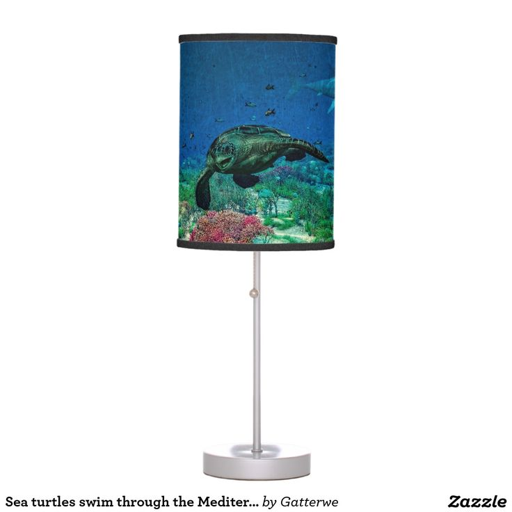#Sea #turtles swim through the Mediterranean Sea Desk #Lamps