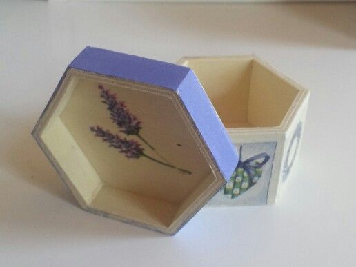 small decoupage box