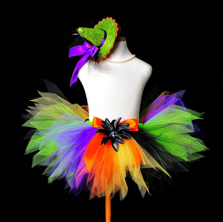 Halloween Witch Tutu...Rainbow Tutu...Witch by TutuGorgeousGirl, $28.00