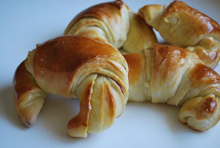 Brioche croissant con marmellata, ricetta base