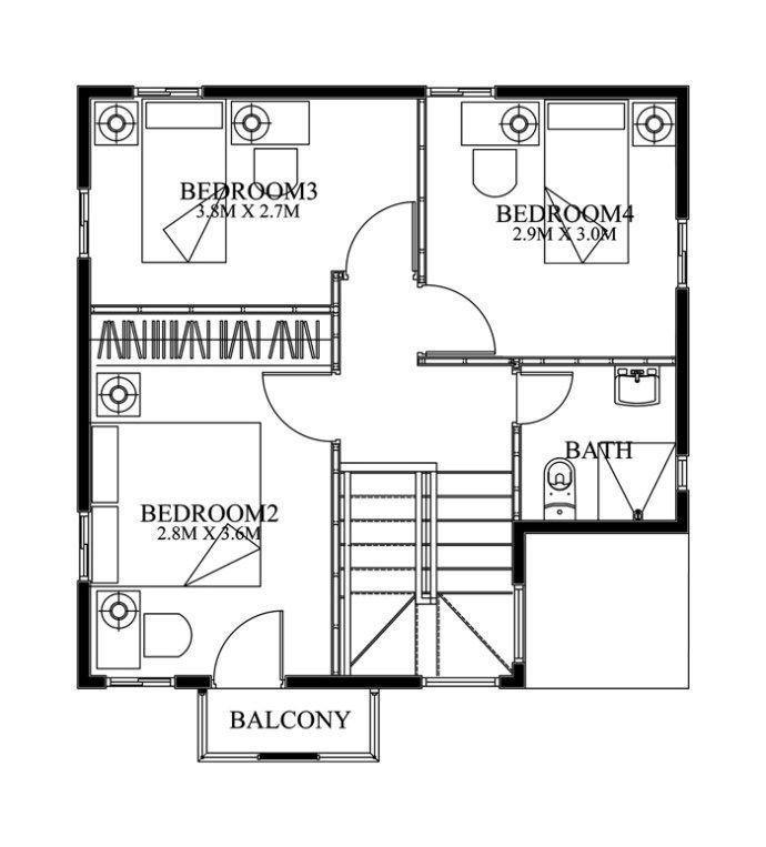 Best 25 small modern house plans ideas on pinterest for Average house floor area