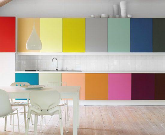 Modern Kitchen Cabinets Colors 25+ best rainbow kitchen ideas on pinterest | cutlery, dinner