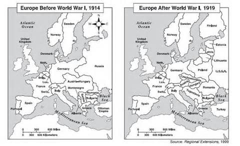europe map world war 1 before and after yahoo image search