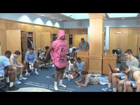 UNC - North Carolina Basketball Harlem Shake (...but maybe they should've done a little less shakin' and a little more practicin'...)