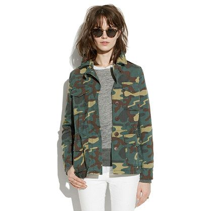 Outbound Jacket in Camo - jackets - Women's JACKETS & OUTERWEAR - Madewell