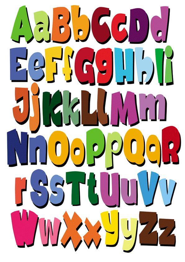20 best abecedario decorativo images on pinterest alphabet letters rh pinterest com clipart alphabet letters free clip art alphabet letters free