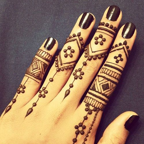 Latest Mehendi Designs For Hands! - Heart Bows & Makeup - Indian ...