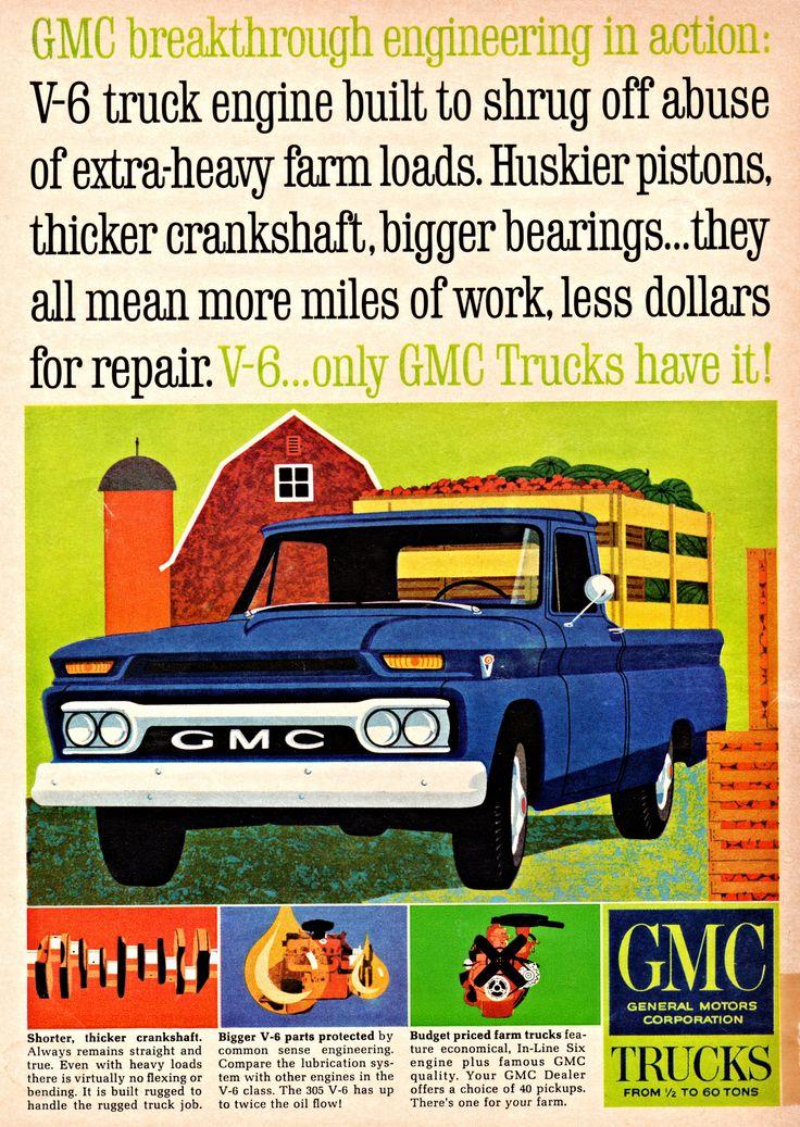 https://flic.kr/p/K5o5Zi | 1964 GMC V-6 Pickup with Stake Bed