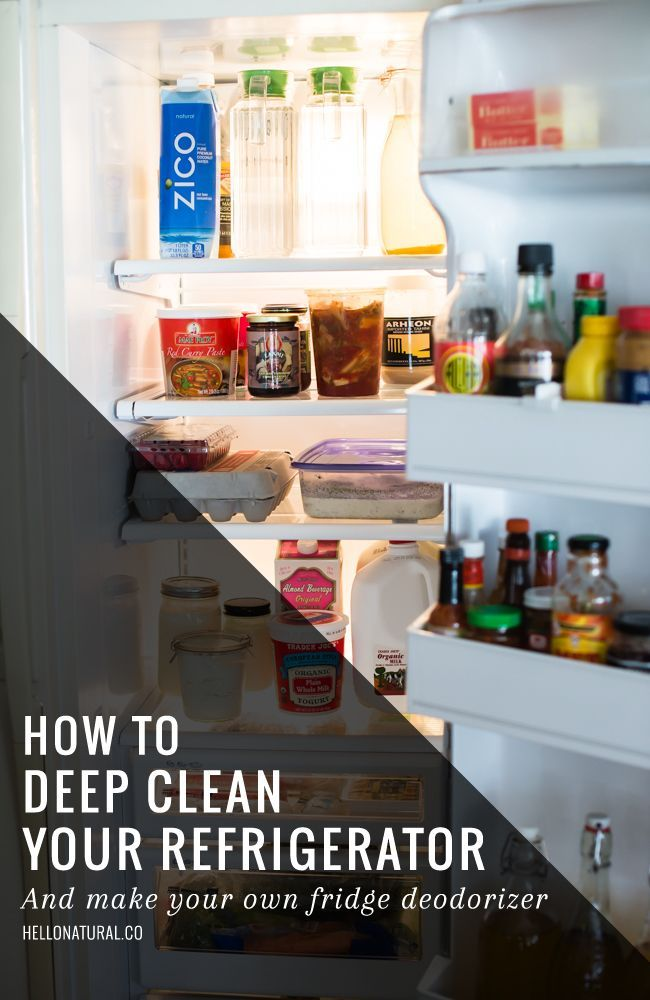 How to Deep Clean Your Refrigerator #kitchenhacks #DIY #home