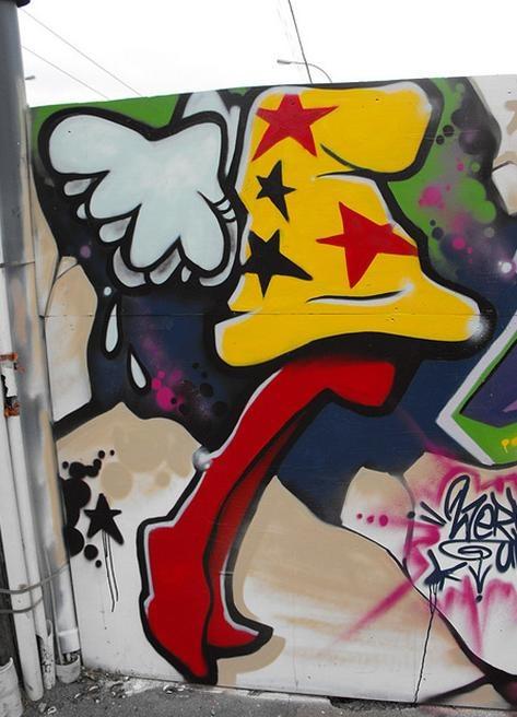 wellington art street graffitti