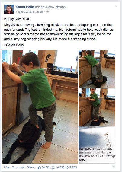 Sarah Palin photos of son stepping on dog trigger online outrage - Yahoo News