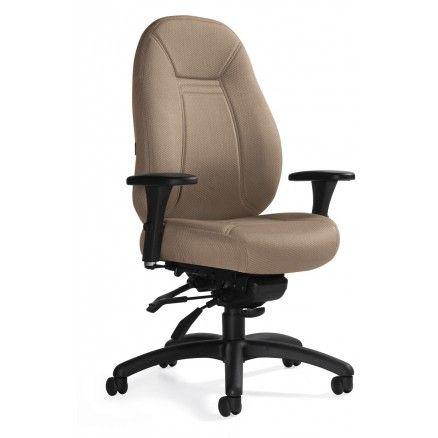 Global Obusforme Comfort 1241-2 - Medium back knee-tilter chair.  FREE shipping in Canada at Ugoburo.ca
