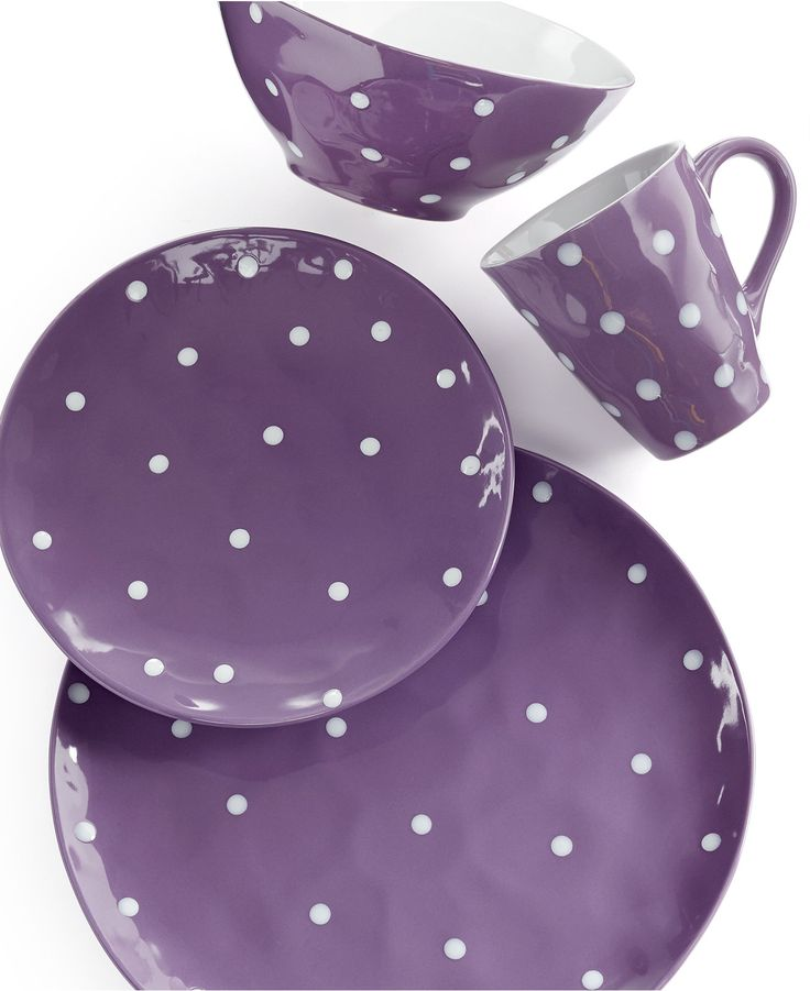 maxwell williams sprinkle purple 4 piece place setting dinnerware dining entertaining. Black Bedroom Furniture Sets. Home Design Ideas