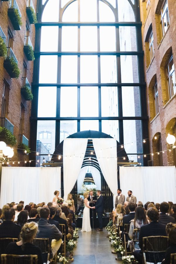 The Court in the Square in Seattle, Washington: http://www.stylemepretty.com/2015/06/10/10-amazing-northwest-wedding-venues/