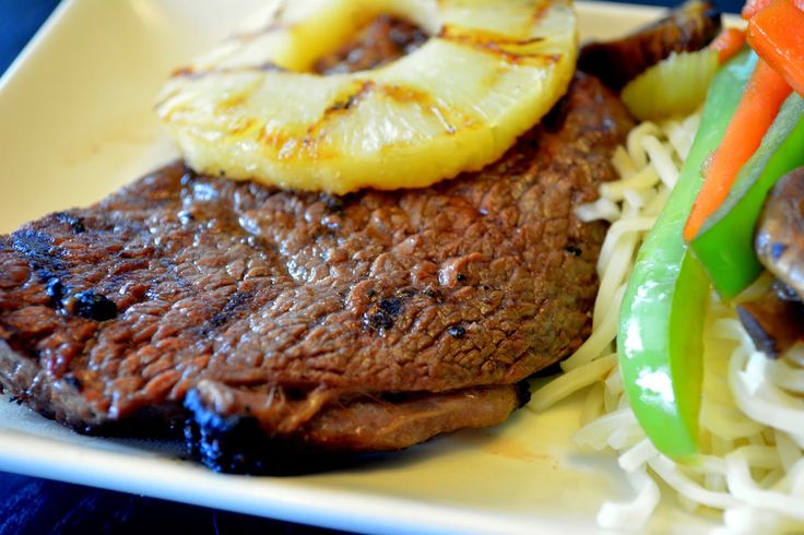Ladybug's Landing: Grilled Pineapple Ginger Steak