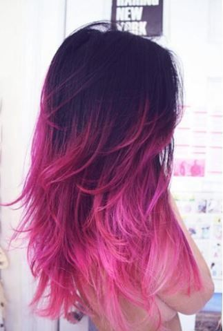 Výsledek obrázku pro barevné vlasy konečky