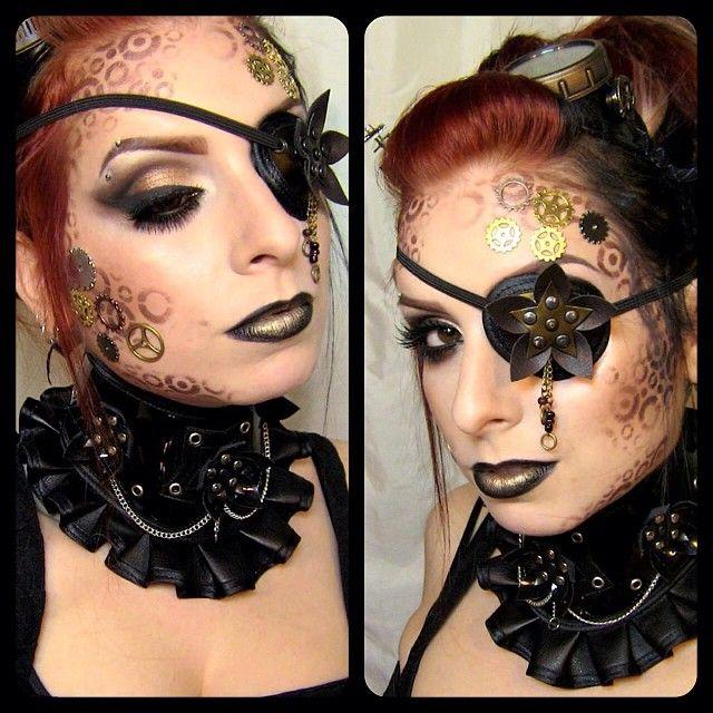 Steampunk makeup  Instagram photo by @izastrawberry
