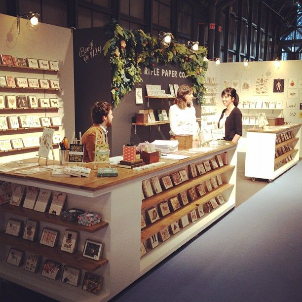 Reminds me of the old NSS days! >> counter | rifle paper co. booth