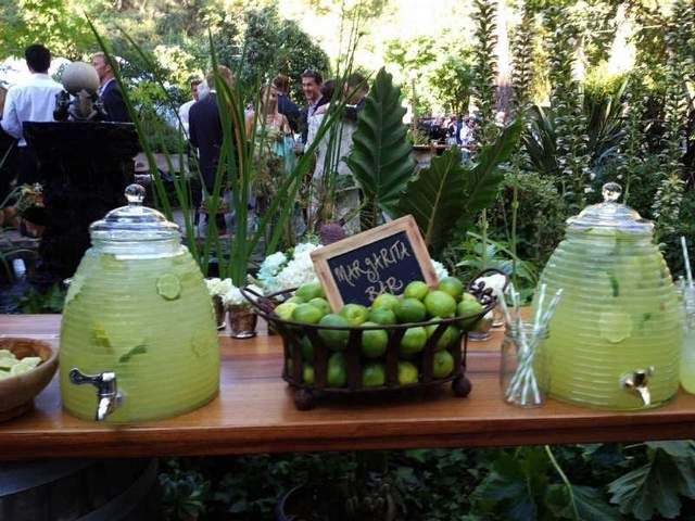 Pretty sure this has to happen: A margarita bar awaits guests at a September wedding at a private estate in Sonoma, Calif.