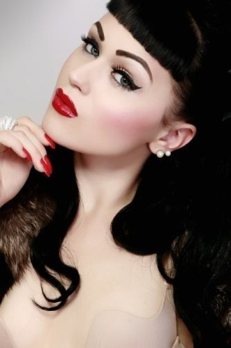 Perfection for #pinup #makeup GET LISTED TODAY! http://www.HairnewsNetwork.com  Hair News Network. All Hair. All The time.