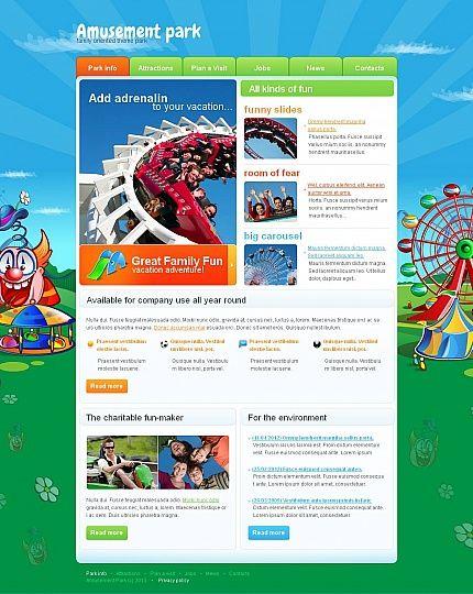 Amusement Park Moto CMS HTML Templates by Mira