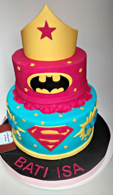 "Torta│Cake - ""Super Héroes Femenina│Girl Superhero"""