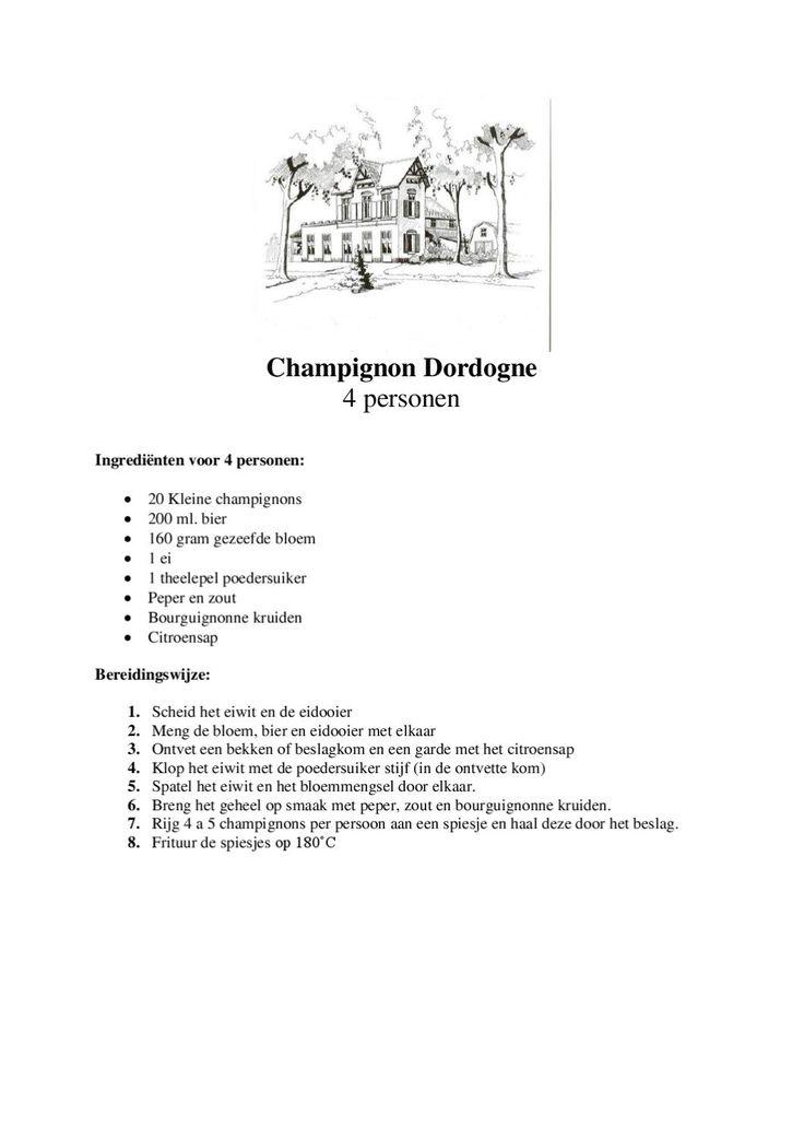 Champignon Dordogne Champignon dordogne van Restaurant De Bon Vivant