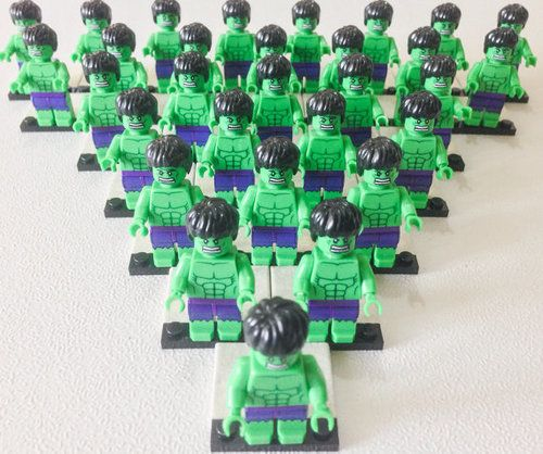 Sale 50 OFF Free Ship 30 Pcs Lego HULK by ticklesbytaylor on Etsy ☺. ☻. ☺