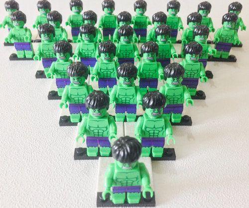 Sale 50 OFF Free Ship 30 Pcs Lego HULK by ticklesbytaylor on Etsy ☺. ☻. ☺
