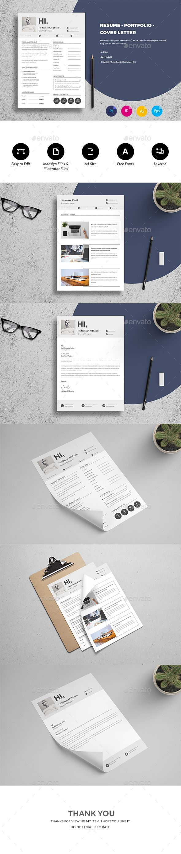 #Resume/CV #Template - Resumes Stationery Download here: https://graphicriver.net/item/resumecv-template/19455630?ref=alena994