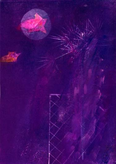 "Saatchi Art Artist ALINA FEDOTOVA; Painting, ""Deep fiolet"" #art"