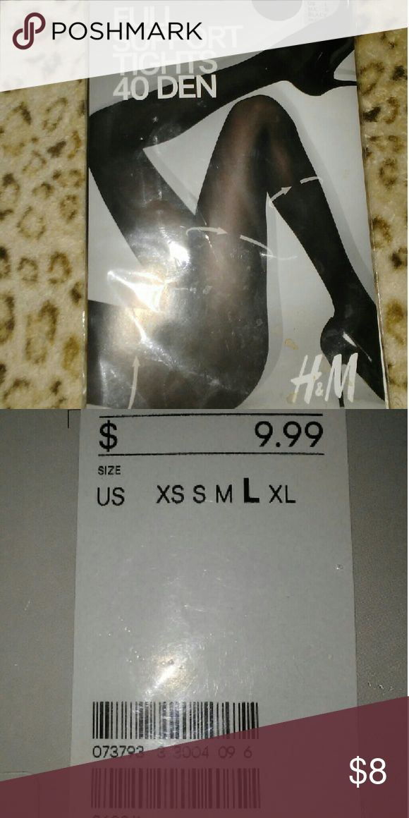Black tights Full body support tights in black  Still in package H&M Intimates & Sleepwear Shapewear