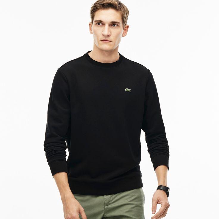 LACOSTE Men'S Fleece Sweatshirt - Black. #lacoste #cloth #all