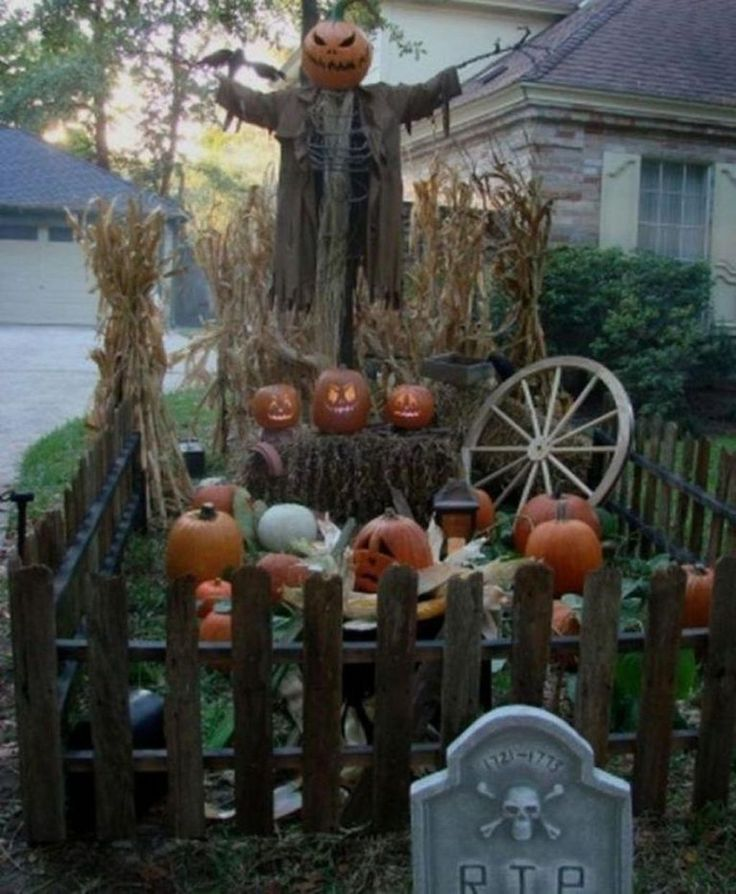 63 Easy DIY Halloween Decorations Ideas for Your Front Yard