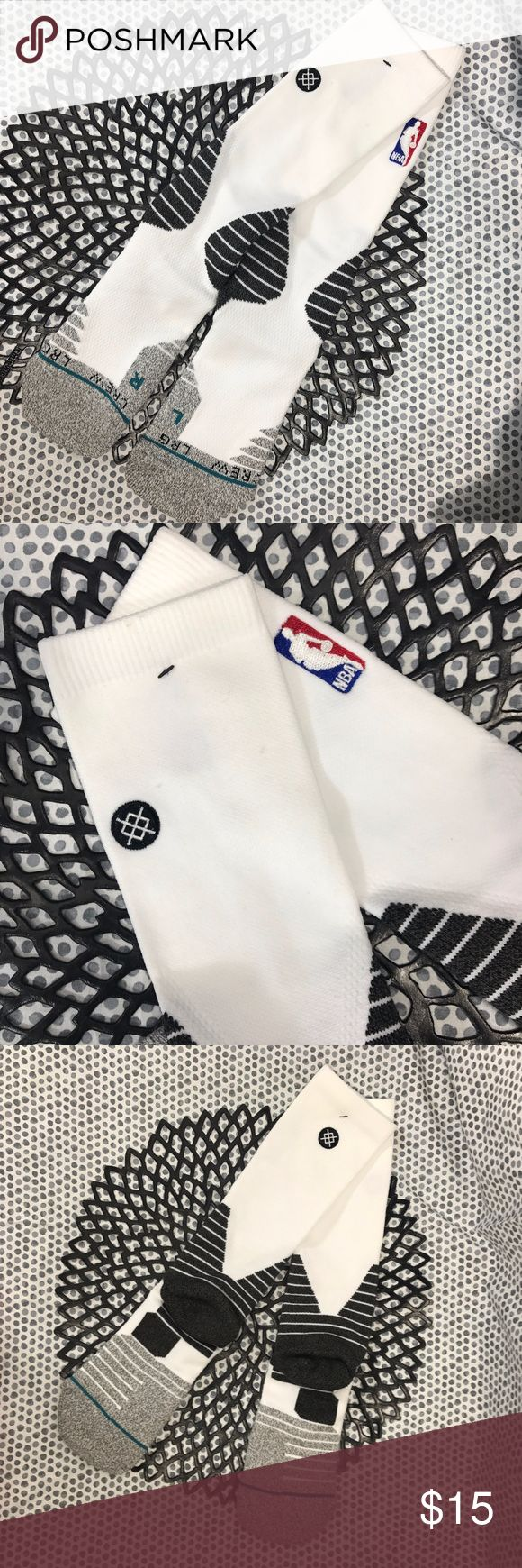 NEW Stance Men's NBA Logo White Long Crew Socks * NEW Stance Men's NBA Logo Basketball White Socks QTR Long Crew Socks * Size Large * New with tags and never worn! Stance Underwear & Socks Athletic Socks
