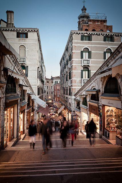 Evening on the Rialto, Venice, Italy